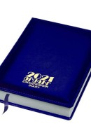 Diary 2021 hard cover, blue