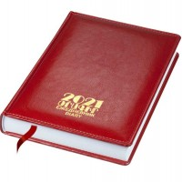 Diary 2021 hard cover, red